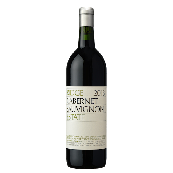 ridge estate cabernet sauvignon 2013