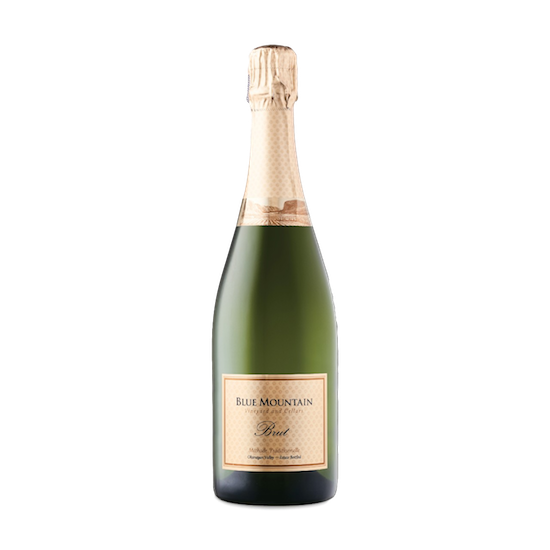 blue mountain gold label traditional method brut