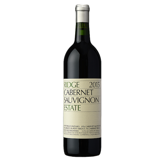 ridge estate cabernet 2015